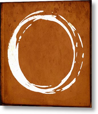 Enso No. 107 Orange Metal Print