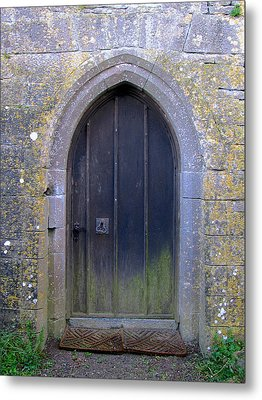 Enter At Your Own Risk Metal Print by Suzanne Oesterling