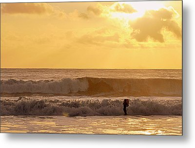 Metal Print featuring the photograph Enter The Surfer by AJ  Schibig