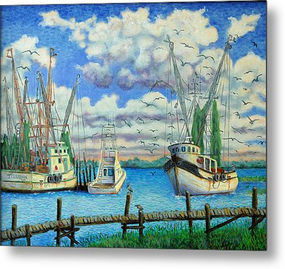 Entering Shem Creek Metal Print by Dwain Ray
