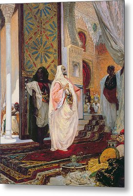Entering The Harem Metal Print by Georges Clairin