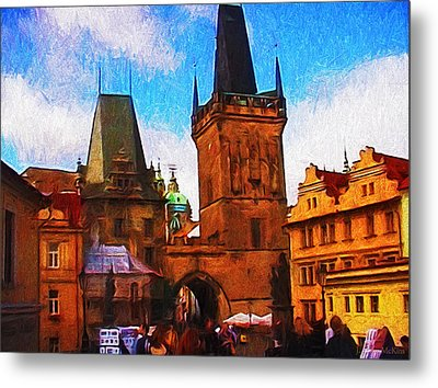 Entering The Old Town Metal Print