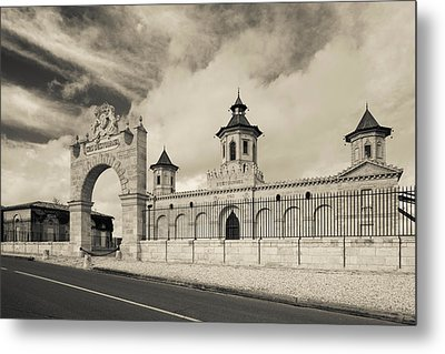 Entrance Of A Winery, Chateau Cos Metal Print by Panoramic Images