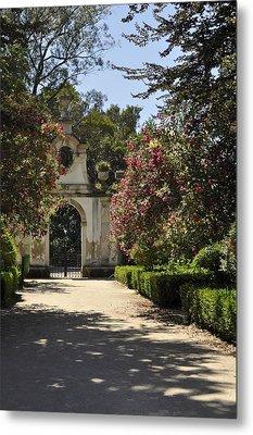 Entrance To A Secret Garden Metal Print by Sandy Molinaro