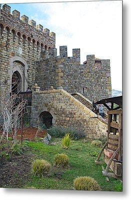 Entrance To Castello Di Amorosa In Napa Valley-ca Metal Print