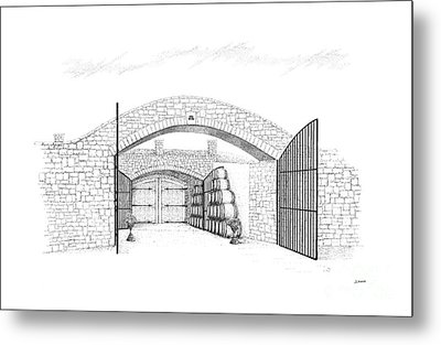 Entrance To Megalomaniac Winery Metal Print