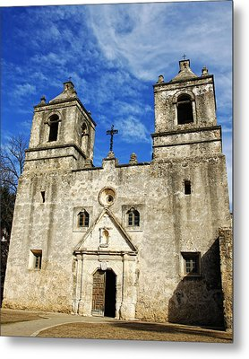 Metal Print featuring the photograph Entrance To Mission Concepcion by Lincoln Rogers