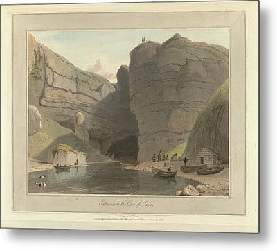 Entrance To The Cave Of Smooe Metal Print by British Library
