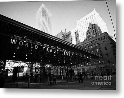 Entrance To The Rebuilt Path Train Station Ground Zero World Trade Center Site New York City Metal Print by Joe Fox