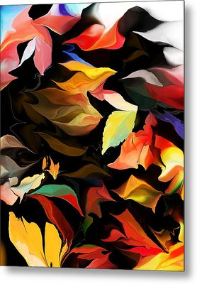 Metal Print featuring the digital art Entropic Dance Of The Salamander First Snow.  by David Lane