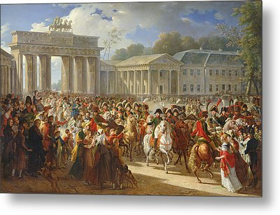 Entry Of Napoleon I 1769-1821 Into Berlin, 27th October 1806, 1810 Oil On Canvas Metal Print