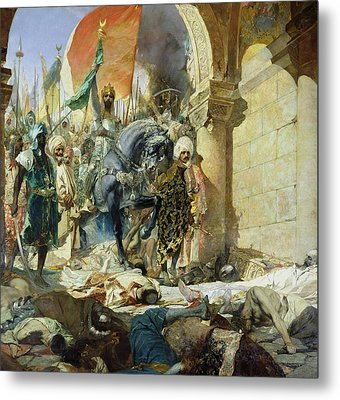 Entry Of The Turks Of Mohammed II Metal Print by Benjamin Constant