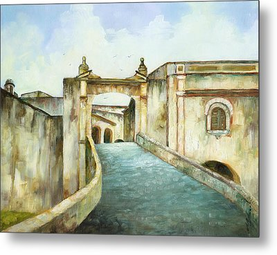 Entry To San Cristobal Metal Print by Monica Linville