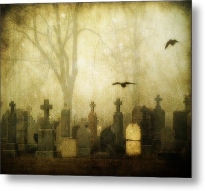 Enveloped By Fog Metal Print by Gothicrow Images
