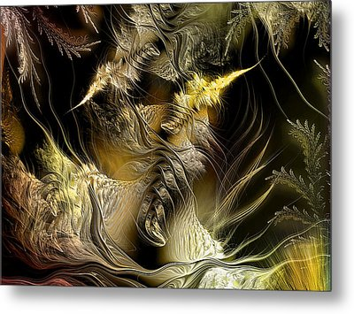 Metal Print featuring the digital art Environmental Transitions 5 by Casey Kotas