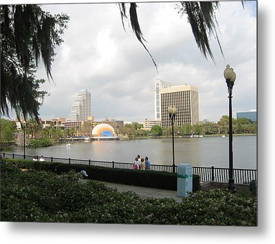 Metal Print featuring the photograph Eola Park In Orlando by Judith Morris
