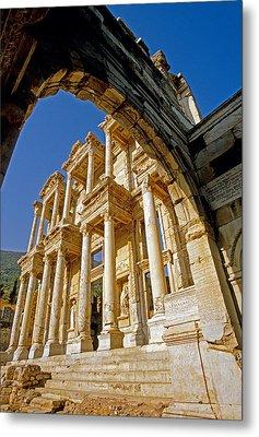 Ephesus Library 2 Metal Print