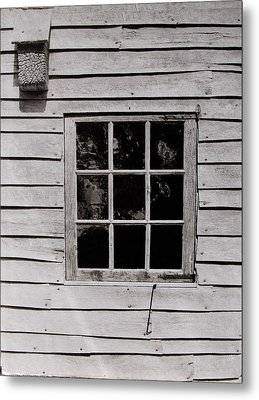 Metal Print featuring the photograph Ephrata Cloisters Window by Jacqueline M Lewis
