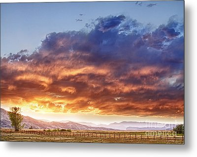 Epic Colorado Country Sunset Landscape Metal Print by James BO  Insogna