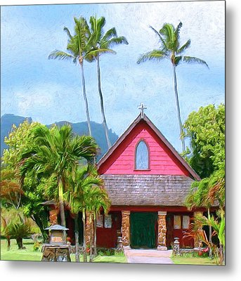 Episcopal Church In Kapaa Metal Print by Dominic Piperata