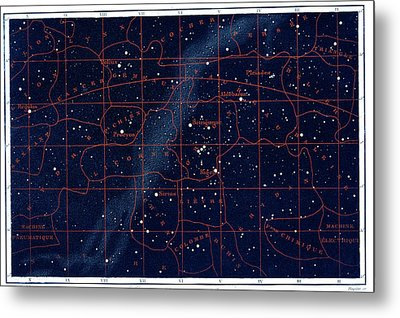 Equatorial Constellations Metal Print by Collection Abecasis