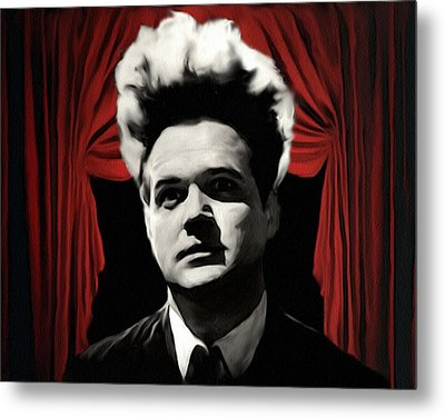 Metal Print featuring the painting Eraserhead by Jeff DOttavio