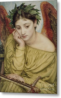 Erato Muse Of Poetry 1870 Metal Print