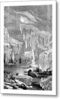 Erebus And Terror In The Ice 1866 Metal Print by Hakon Soreide