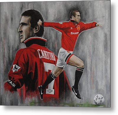 Eric Cantona Metal Print by David Dunne