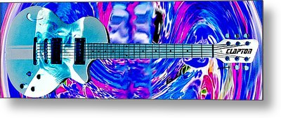 Eric Clapton Guitar Metal Print by Anthony Caruso