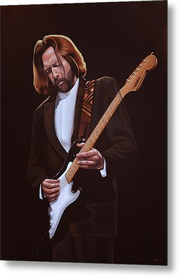 Eric Clapton Painting Metal Print by Paul Meijering