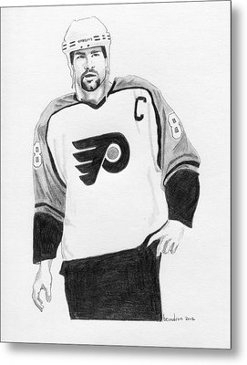 Eric Lindros Metal Print by Brian Condron