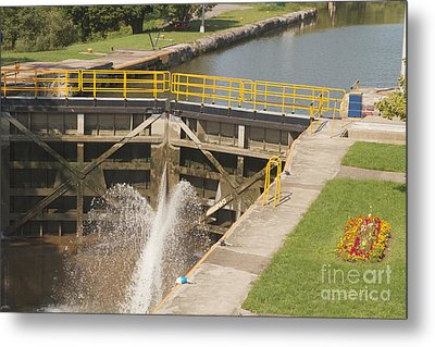Metal Print featuring the photograph Erie Canal Lock by William Norton