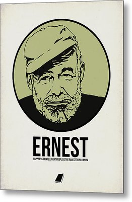 Ernest Poster 2 Metal Print by Naxart Studio