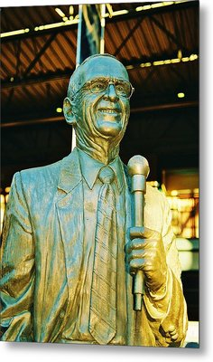 Ernie Harwell Statue At The Copa Metal Print