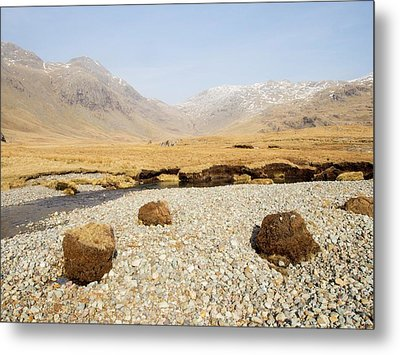 Eroded Peat On River Esk Metal Print by Ashley Cooper