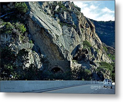 Metal Print featuring the photograph Eroding Hillside And Tunnel by Susan Wiedmann