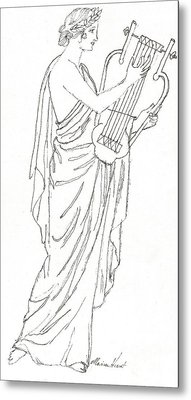 Erato  Muse Of Love Metal Print by Maria Hunt