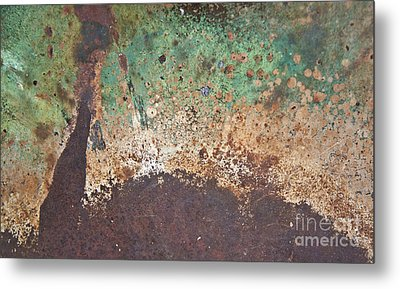 Eruption Volcanic Abstract Metal Print by Lee Craig