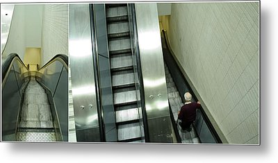 Escalator 23 Minutes Metal Print by Eric Soucy