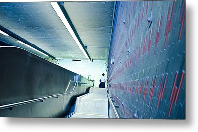 Escalator Blues Metal Print by Eric Soucy