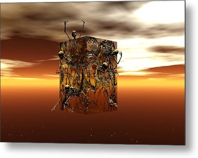 Metal Print featuring the digital art Escape Attempt by Claude McCoy