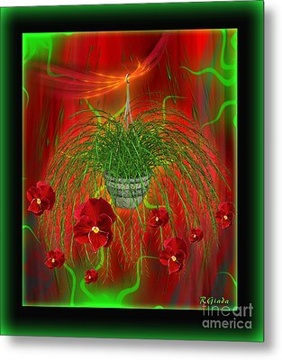 Metal Print featuring the digital art Escape - Floral Abstract Art By Giada Rossi by Giada Rossi