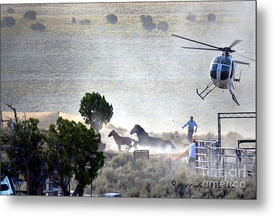 Escape From Butte Valley Trapsite Triple B Metal Print by Afroditi Katsikis