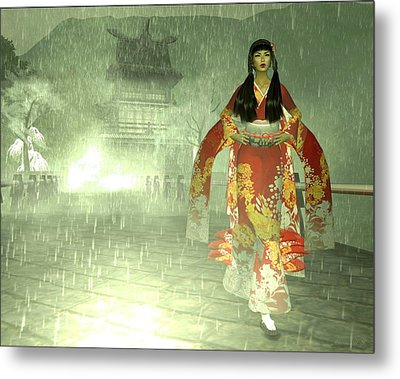 Escaping Her Feudal Lord Metal Print