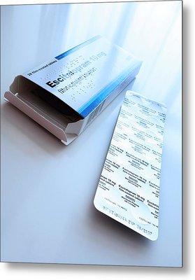 Escitalopram Antidepressant Tablets Metal Print by Cordelia Molloy