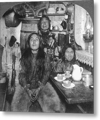 Eskimo Family Portrait Metal Print