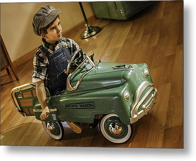 Metal Print featuring the photograph Estate Wagon Pedal Truck by Betty Denise