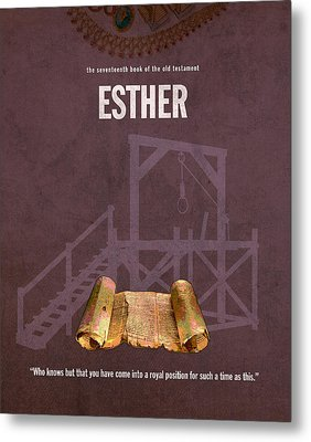 Esther Books Of The Bible Series Old Testament Minimal Poster Art Number 17 Metal Print by Design Turnpike