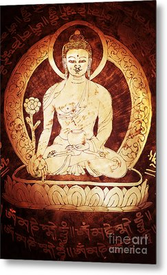 Etched Buddha  Metal Print by Tim Gainey